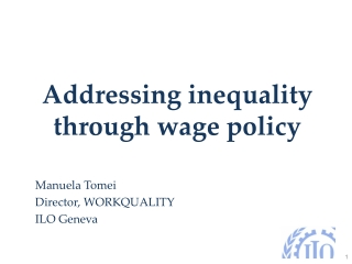 Addressing inequality through wage policy