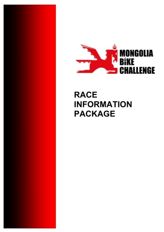 RACE INFORMATION PACKAGE