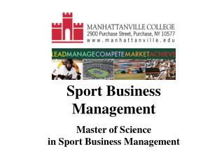 Sport Business Administration Expert of Science in Game Business Administration