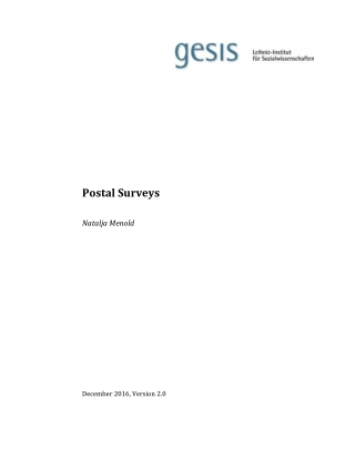 Postal Surveys