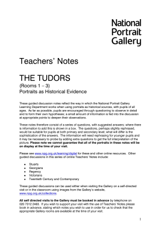 "Teachers"" Notes"