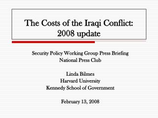 The Expenses of the Iraqi Strife: 2008 redesign