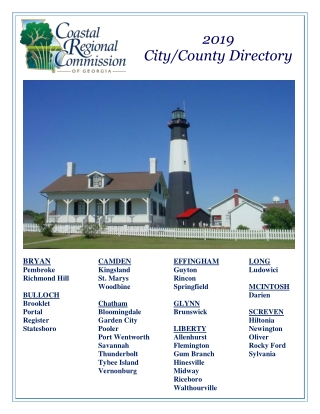 City/County Directory 2019 City/County Directory