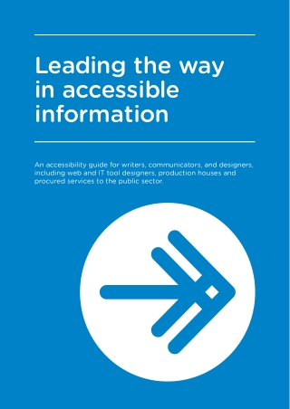 Leading the way in accessible information