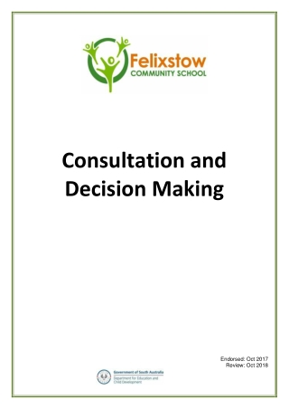 Consultation and Decision Making