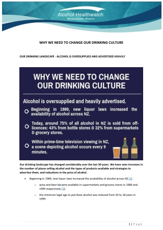 WHY WE NEED TO CHANGE OUR DRINKING CULTURE