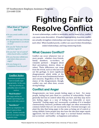 Fighting Fair to Resolve Conflict