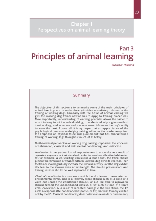 Principles of animal learning