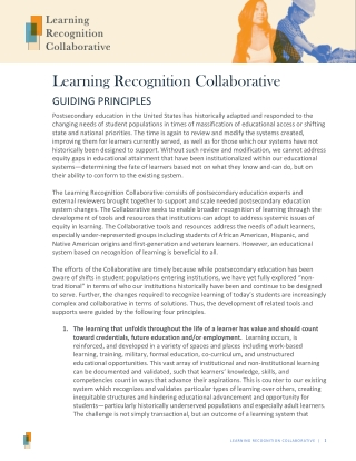 Learning Recognition Collaborative
