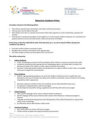 Behaviour Guidance Policy