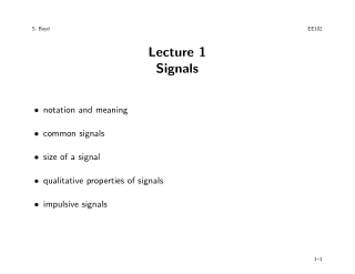 Lecture 1 Signals