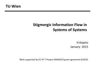 TU Wien Stigmergic Information Flow in Systems of Systems