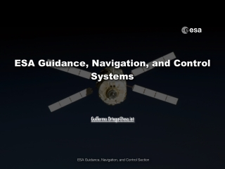 ESA Guidance, Navigation, and Control Systems