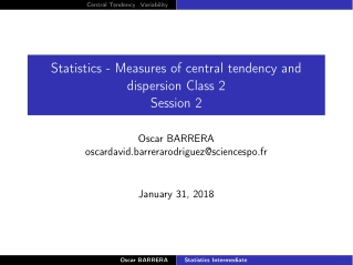 PPT] - Measures of Central Tendency PowerPoint Presentation, free download  - 85180
