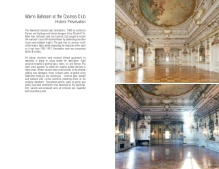 Warne Ballroom at the Cosmos Club