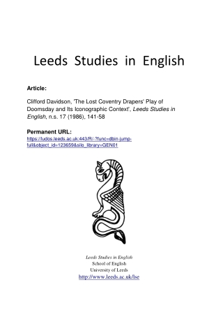 Leeds Studies in English