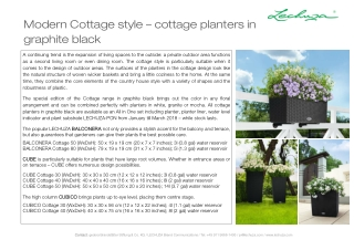 Modern Cottage style – cottage planters in graphite black