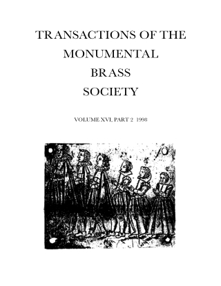 TRANSACTIONS OF THE MONUMENTAL BRASS SOCIETY