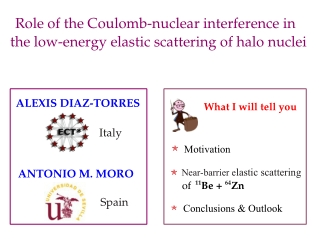 Role of the Coulomb­nuclear interference in        the low­energy elastic scattering of halo nuclei