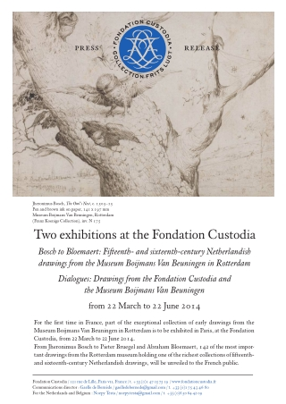 Two exhibitions at the Fondation Custodia