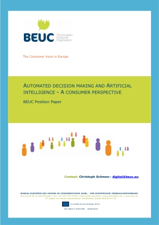 AUTOMATED DECISION MAKING AND ARTIFICIAL