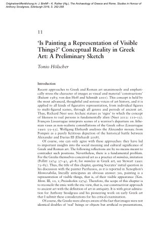 'Is Painting a Representation of Visible Things?' Conceptual Reality in Greek Art: A Preliminary Sketch