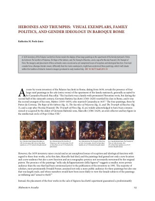 HEROINES AND TRIUMPHS: VISUAL EXEMPLARS, FAMILY POLITICS, AND GENDER IDEOLOGY IN BAROQUE ROME