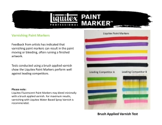 Varnishing Paint Markers