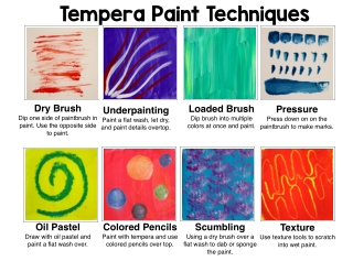 Tempera Paint Techniques