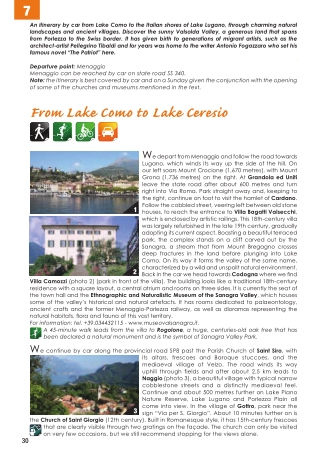 From Lake Como to Lake Ceresio