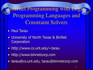 Web Programming with Rationale Programming Dialects and Imperative Solvers
