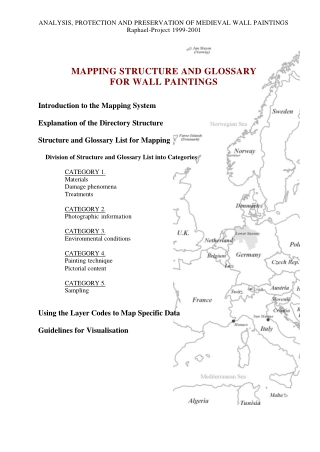 MAPPING STRUCTURE AND GLOSSARY FOR WALL PAINTINGS