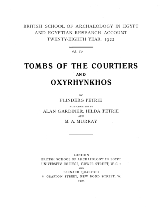 TOMBS OF THE COURTIERS
