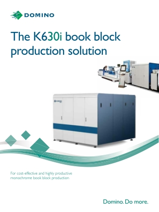 The K630i book block production solution