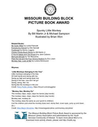 MISSOURI BUILDING BLOCK PICTURE BOOK AWARD