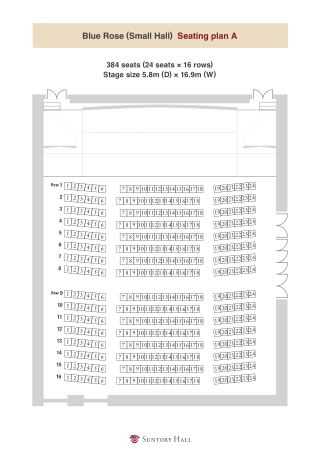 Blue Rose (Small Hall) Seating plan A