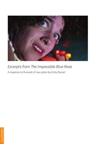 Excerpts from Te Impossible Blue Rose