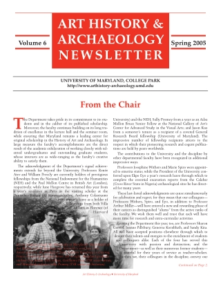 ART HISTORY &ARCHAEOLOGY NEWSLETTER