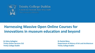 Harnessing Massive Open Online Courses for
