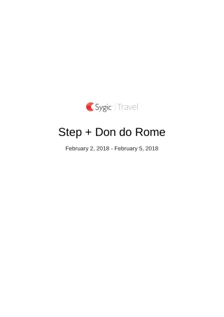 Step + Don do Rome