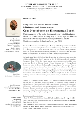 Cees Nooteboom on Hieronymus Bosch