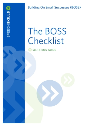 The BOSS Checklist