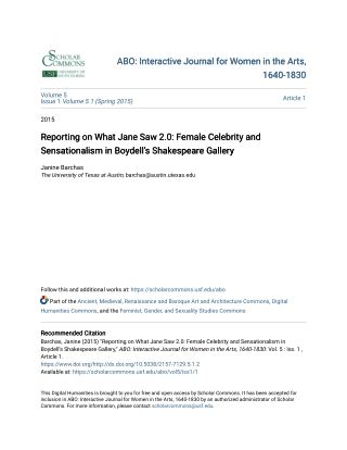ABO: Interactive Journal for Women in the Arts, ABO: Interactive Journal for Women in the Arts, 1640-1830 1640-1830