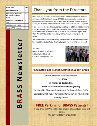 BRASS Newsletter
