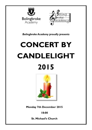 CONCERT BY CANDLELIGHT 2015