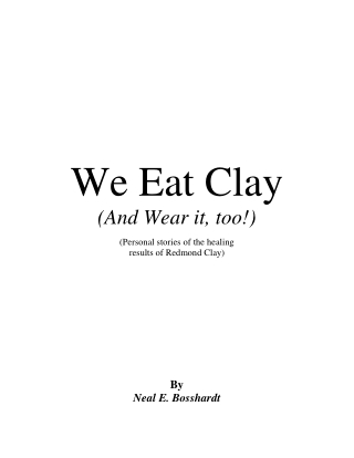 We Eat Clay