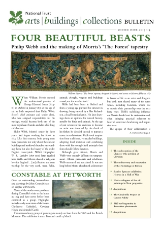 arts|buildings|collectionsBULLETINFOUR BEAUTIFUL BEASTSPhilip Webb and the making of Morris's 'The Forest' tapestry