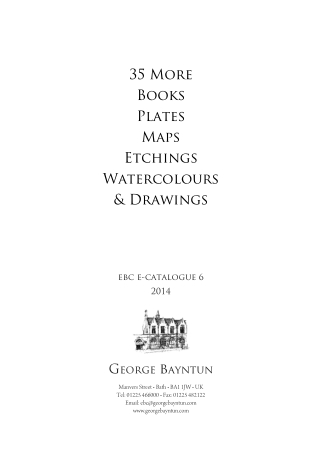 35 More Books Plates Maps Etchings Watercolours & Drawings