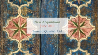 New Acquisitions June 2016