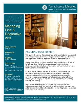 Managing Fine & Decorative Arts